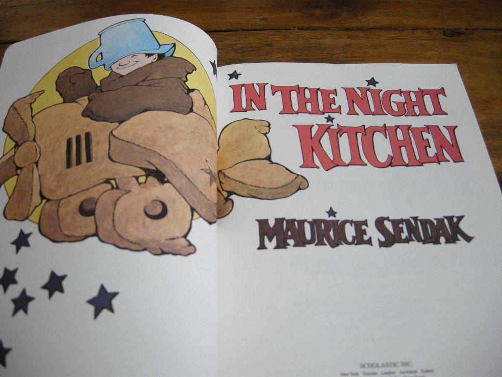 モーリスセンダック『IN THE NIGHT KITCHEN』 まよなかのだいどころ ヴィンテージ英語絵本 フルカラーペーパーバック) 1970年 中古A