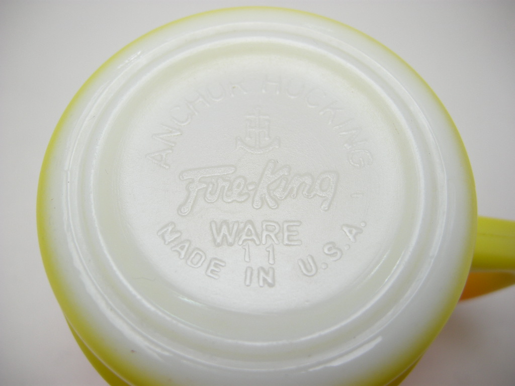 ファイヤーキング スタッキングマグ グラデーション 橙・黄 60s AB No.365