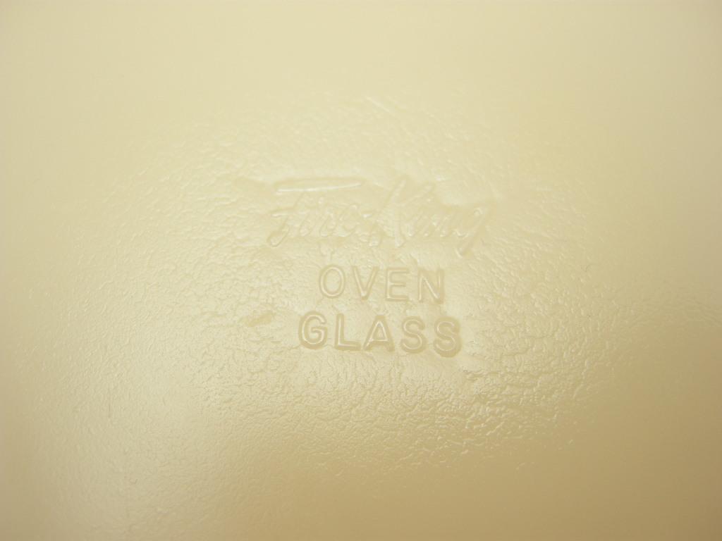 ファイヤーキング ジェーンレイ ディナープレート ダークアイボリー 40s後期GLASS刻印 A No.003