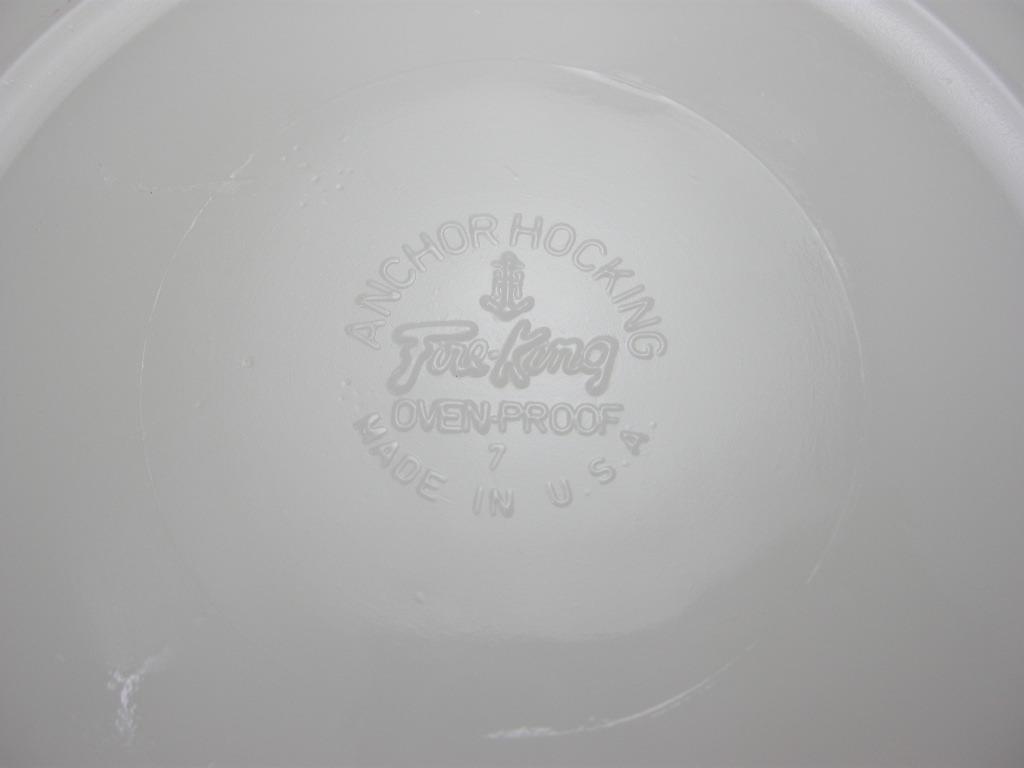 ファイヤーキング シェル ディナープレート ホワイト 60s A No.013