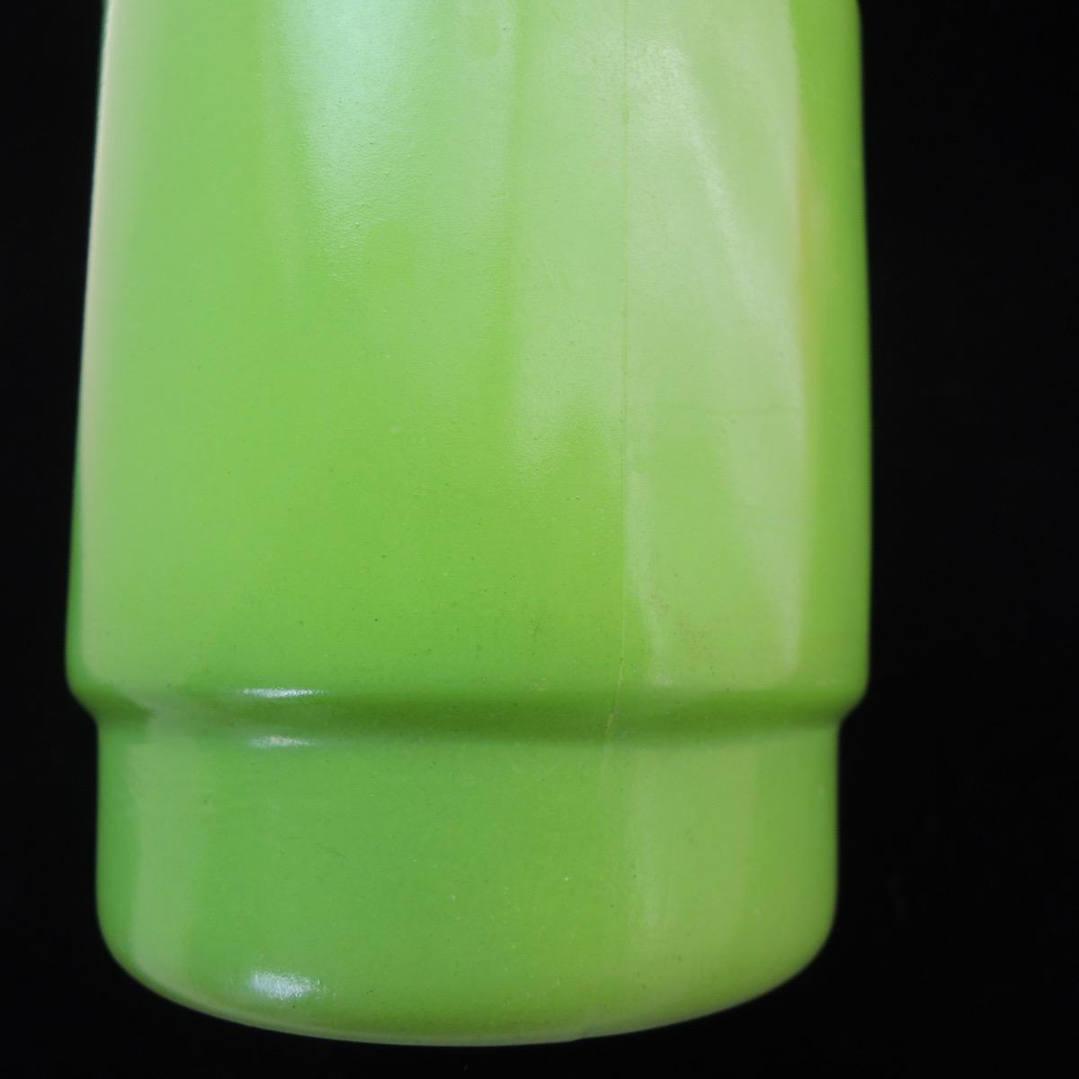 ファイヤーキング スタッキングマグ ラウンドハンドル 黄緑(ブラックリム) 1960年代 ABランク No.431