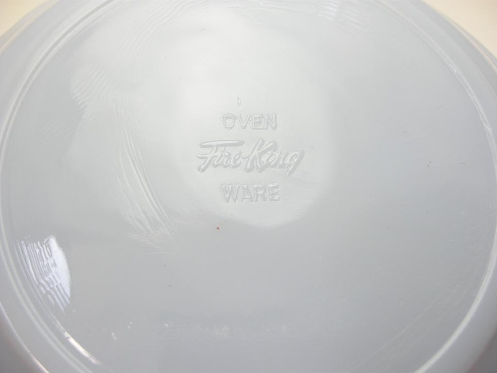 ファイヤーキング スワール スーププレート アズライト 50s前期 SS No.002