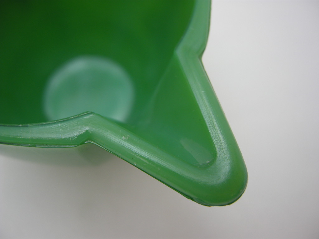 アクロアガット オクタゴナル ミニチュア ティーポット ジェードグリーン/ホワイト B No.001