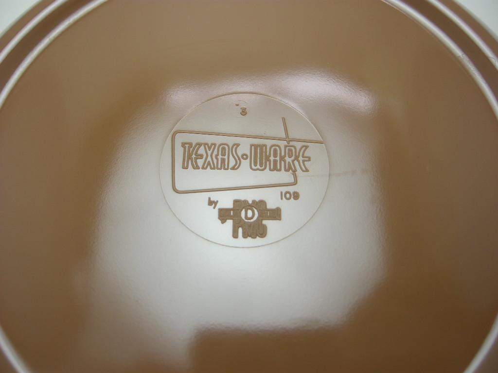 テキサスウェア メルマック ベジタブルボウル サドルブラウン 1950年代 No.001 ヴィンテージ・メラミン樹脂製食器