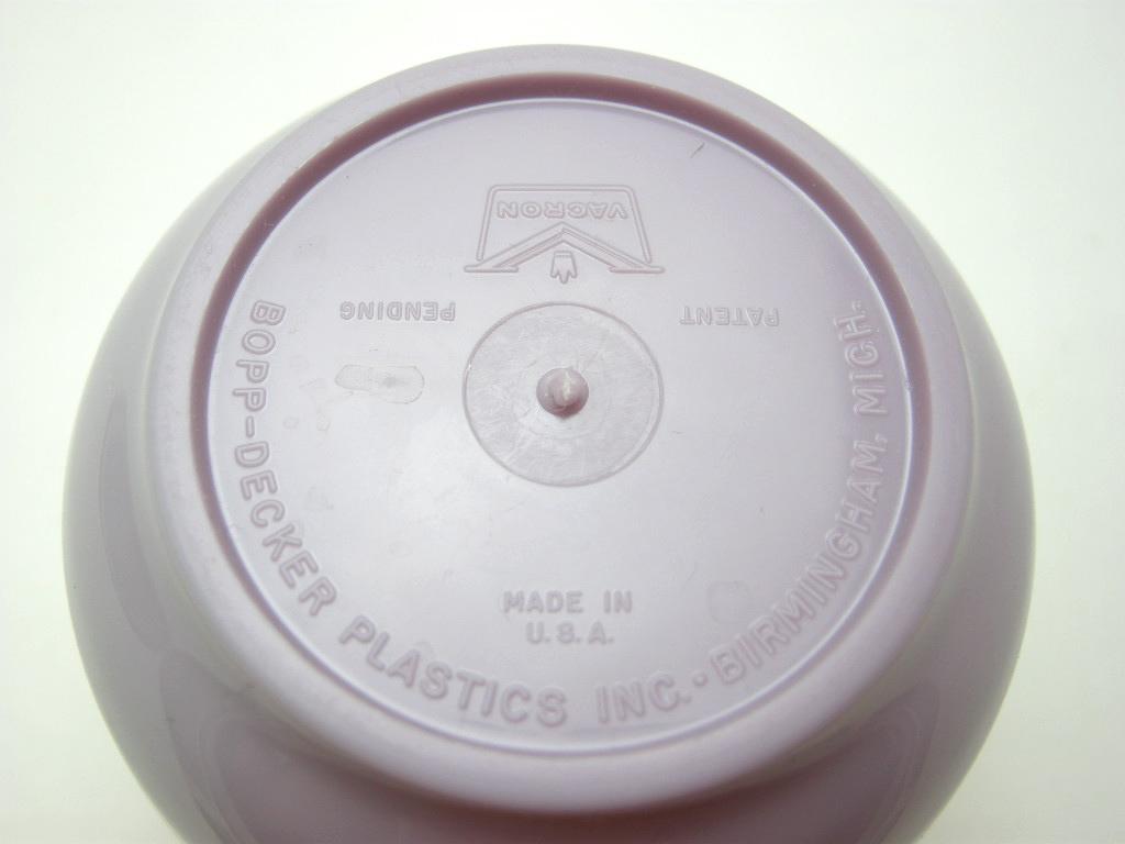 ボップデッカー メルマック タンブラー(S) ホワイト&パープル 1950年代 No.002 ヴィンテージ・メラミン樹脂製食器