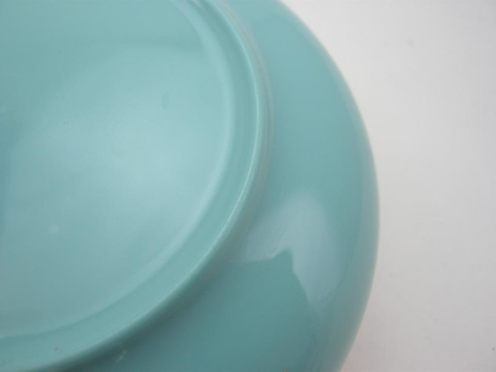 ボップデッカー メルマック ボウル ホワイト&水色 1950年代 AB No.009 ※ヴィンテージ・メラミン樹脂製食器