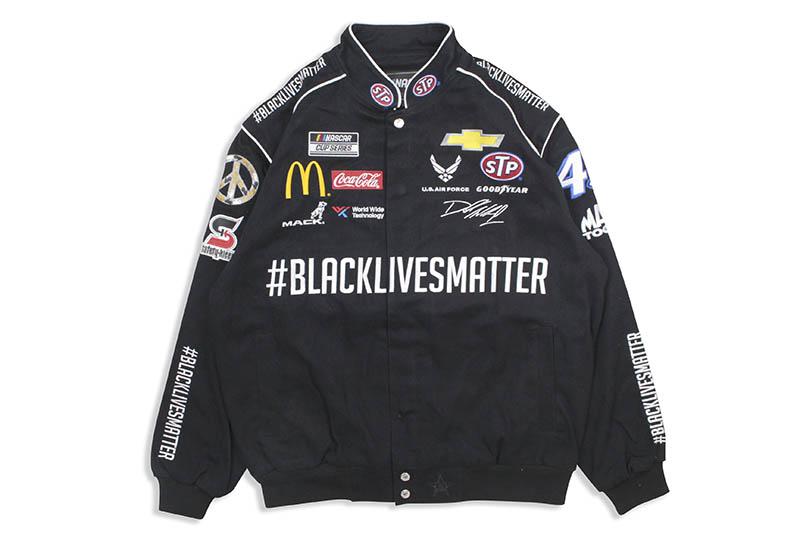 JH Design BUBBA WALLACE #BLACKLIVESMATTER NASCAR TWILL JACKET (BW0303BLM0:BLACK)