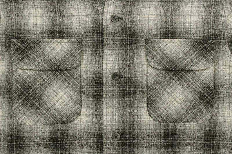 PENDLETON BOARD SHIRT (AA022-32304:GREY/BLACK/TAN OMBRE)