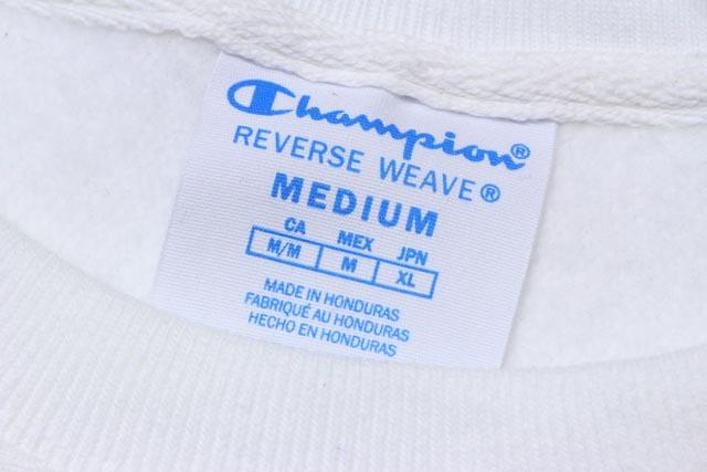 CHAMPION LIFE REVERSE WEAVE CREW (WHITE)