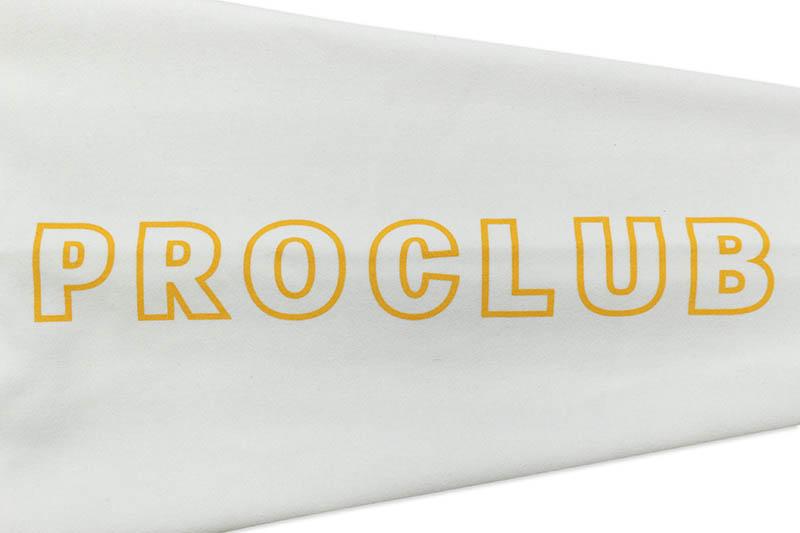 PRO CLUB HEAVYWEIGHT CUSTOM BOX LOGO CREWNECK FLEECE SWEATSHIRT (WHITE)