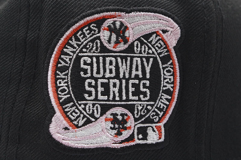 NEW ERA NEW YORK METS 59FIFTY FITTED CAP (2000 SUBWAY SERIES CUSTOM SIDE PATCH/PINK UNDER VISOR/BLACK)
