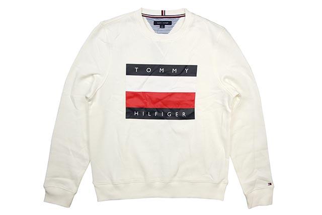 TOMMY HILFIGER LOGO CREW SWEAT(C8878C2685-118)(WHITE)