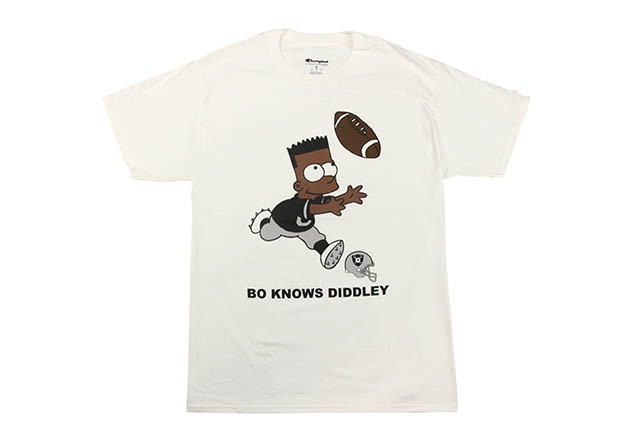 COMMUNITY 54 BO KNOWS BART S/S T-SHIRTS(WHITE)