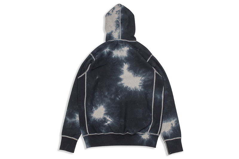 ACAPULCO GOLD TIE DYED PULLOVER HOODIE (BLACK)