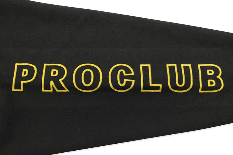 PRO CLUB HEAVYWEIGHT CUSTOM BOX LOGO PULLOVER HOODIE (BLACK)