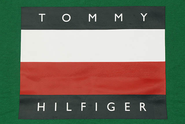 TOMMY HILFIGER FLAG LOGO CREW SWEAT(C8878C2685-311)(GREEN)