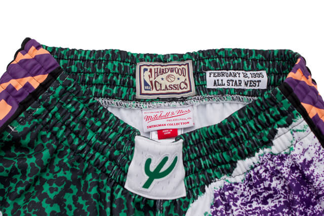 MITCHELL&NESS SWINGMAN MESH SHORTS(ALL-STAR WEST/1995/WHITE)