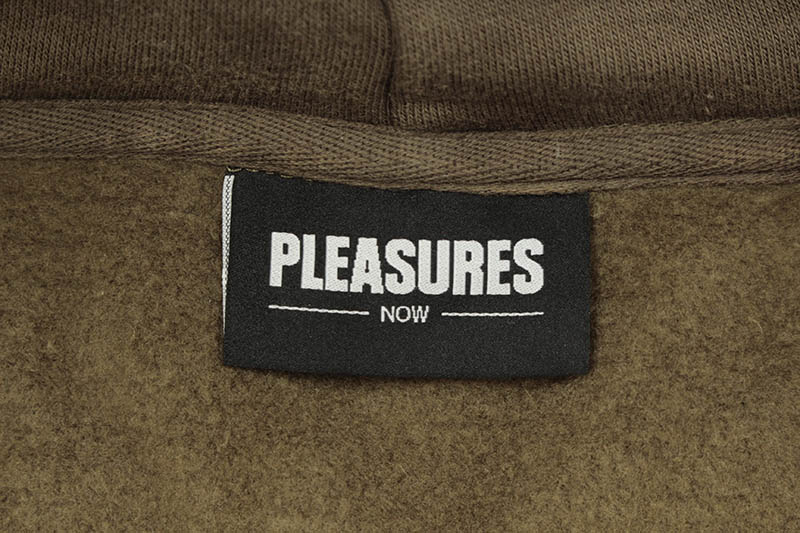 PLEASURES BURNOUT DYED HOODY (OLIVE)