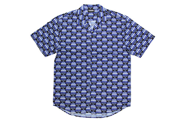 PLEASURES HIGHWAY SHORT SLEEVE BUTTON UP (BLUE)