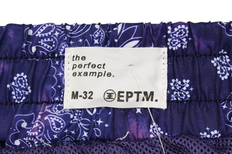 EPTM TIE DYED BANDANA SHORTS (EP9940:NAVY)