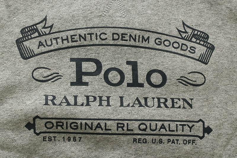 POLO RALPH LAUREN FLEECE GRAPHIC HOODIE (710793021002:GREY HEATHER)