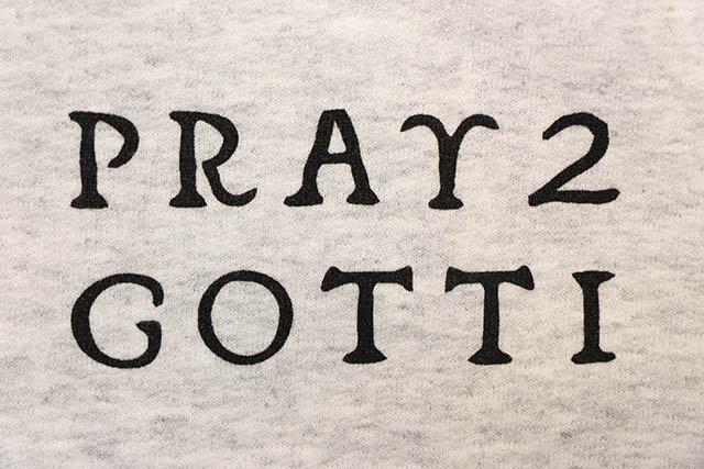 B WOOD PRAY 2 GOTTI HOODY (GRAY)