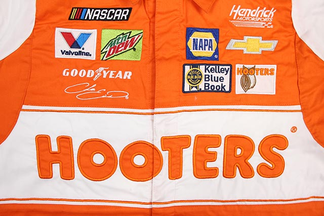 JH Design CHASE ELLIOTT HOOTERS 2019 PIT SHIRT (ORANGE)