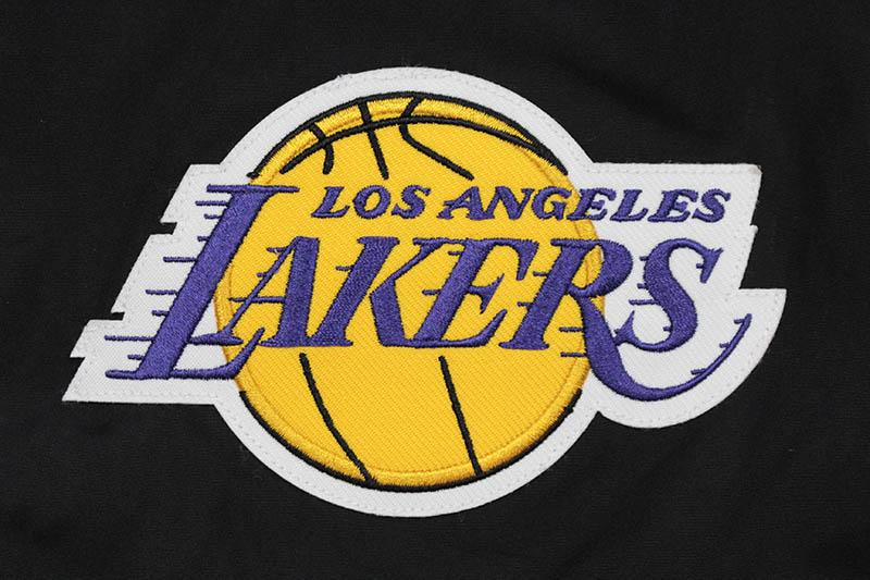 JH Design LOS ANGELES LAKERS REVERSIBLE FLEECE AND FAUX LEATHER HOODED JACKET (953-GTT8:GREY/BLACK)