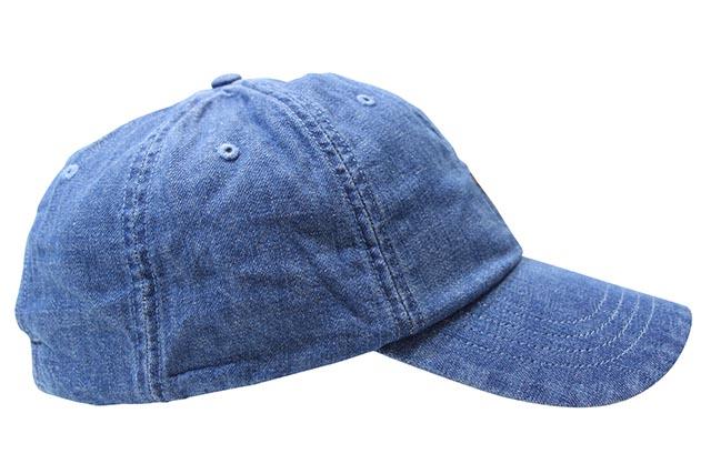 POLO RALPH LAUREN SIGNATURE MULTI PONY DENIM BASEBALL CAP(710674341001)