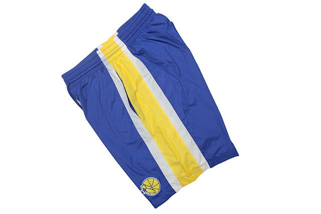 MITCHELL&NESS PACKABLE NYLON SHORTS(GOLDEN STATE WARRIORS)