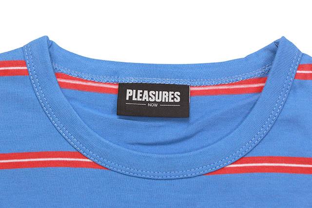PLEASURES SCREAM STRIPED LONG SLEEVE SHIRT (BRIGHT BLUE)