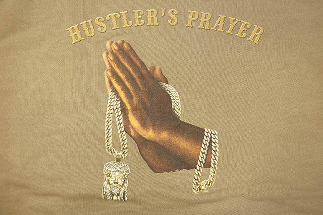 CLASSIC MATERIAL NY HUSTLER'S PRAYER CREW (PIGMENT SANDSTONE)