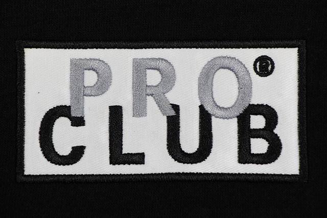 PRO CLUB BOX LOGO HEAVY WEIGHT HOODY (BLACK)