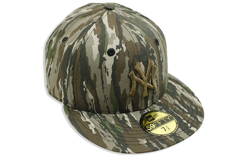 NEW ERA NEW YORK YANKEES 59FIFTY FITTED CAP (REALTREE ORIGINAL/BROWN)
