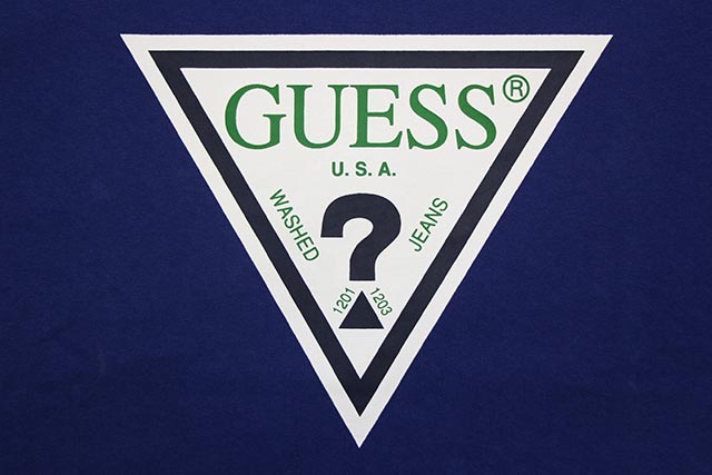 GUESS GREEN LABEL TRIANGLE LOGO S/S TEE (GRFW17-001:BLUE)