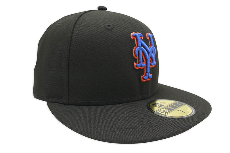 NEW ERA NEW YORK METS 59FIFTY FITTED CAP (PINK UNDER VISOR/BLACK)