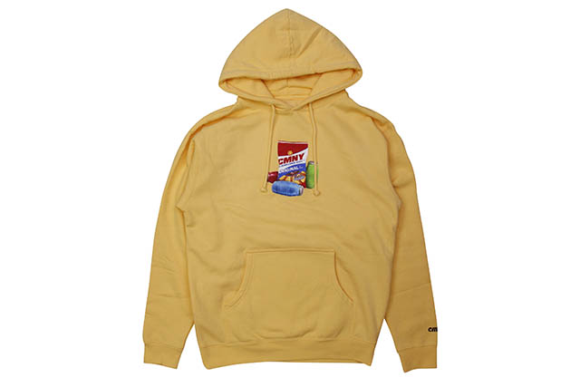 CLASSIC MATERIAL NY SUNFLOWER SEEDS & QUARTER WATERS HOODY (PEACH)