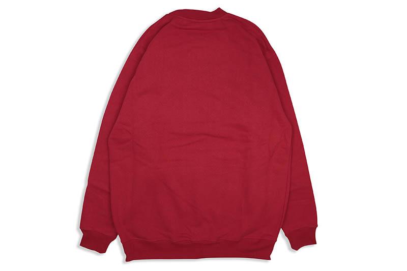 PRO CLUB HEAVYWEIGHT CREWNECK FLEECE SWEATSHIRT (RED)