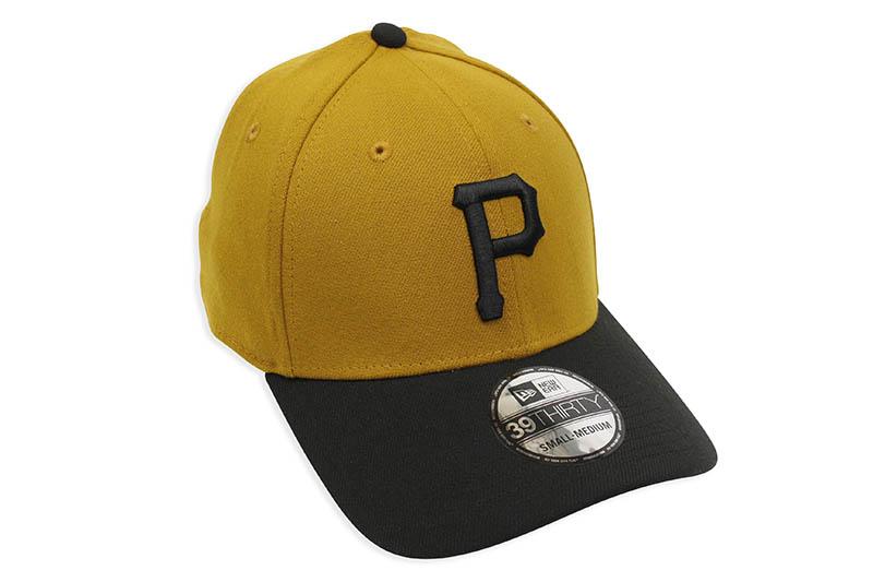 NEW ERA PITTSBURGH PIRATES TEAM CLASSIC 39THIRTY STRETCH FIT CAP (MUSTARD/BLACK)
