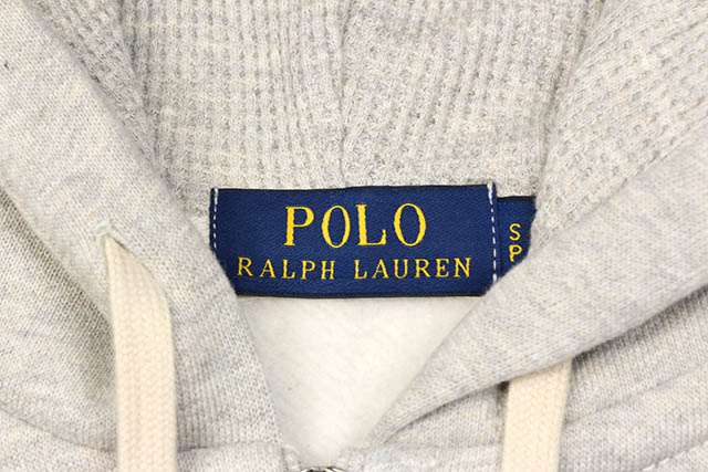 POLO RALPH LAUREN CLASSIC FULL-ZIP FLEECE HOODIE (710548546002:GRAY)