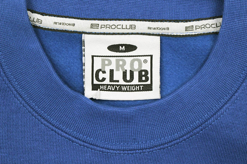 PRO CLUB HEAVYWEIGHT CREWNECK FLEECE SWEATSHIRT (ROYAL BLUE)