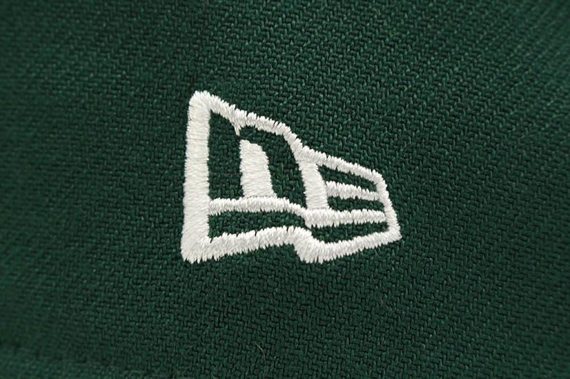 NEW ERA OAKLAND ATHLETICS TEAM CLASSIC 39THIRTY STRETCH FIT CAP (DARK GREEN/YELLOW)