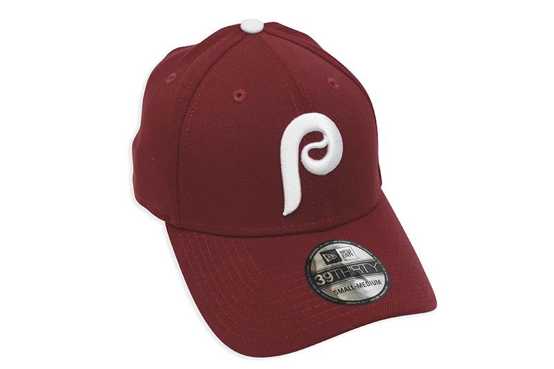 NEW ERA PHILADELPHIA PHILLIES TEAM CLASSIC 39THIRTY STRETCH FIT CAP (BURGUNDY)