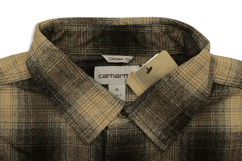 Carhartt ORIGINAL FIT FLANNEL L/S PLAID SHIRT (104451/N04:BLACK)