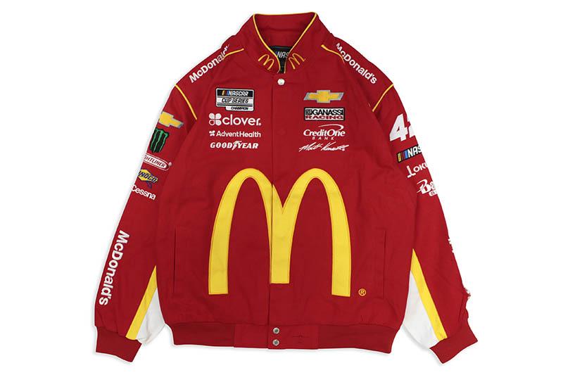 JH Design MATT KENSETH McDonald's NASCAR TWILL JACKET (MK0303MCD0:RED)