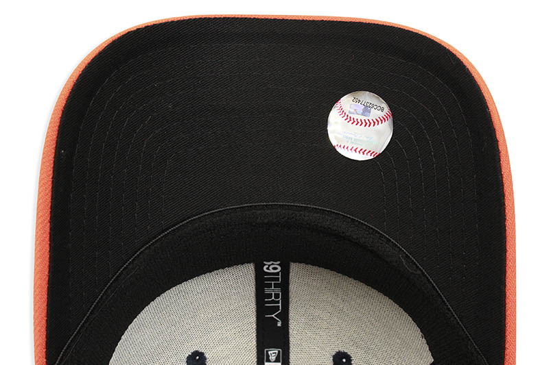 NEW ERA HOUSTON ASTROS TEAM CLASSIC 39THIRTY STRETCH FIT CAP (NAVY/ORANGE)