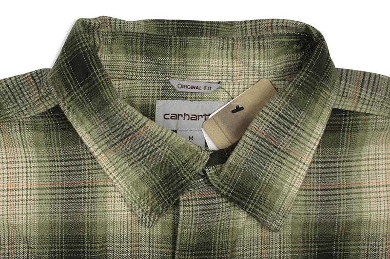 Carhartt ORIGINAL FIT FLANNEL L/S PLAID SHIRT (104451/307:OLIVE)