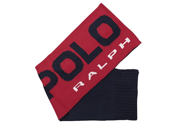 POLO RALPH LAUREN POLO SPORT COLOR-BLOCKED SCARF (PC0398-620:RED/NAVY)