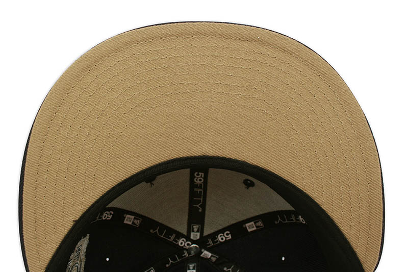 NEW ERA NEW YORK YANKEES 59FIFTY FITTED CAP (75th WORLD SERIES CUSTOM SIDE PATCH/KHAKI UNDER VISOR/NAVY)