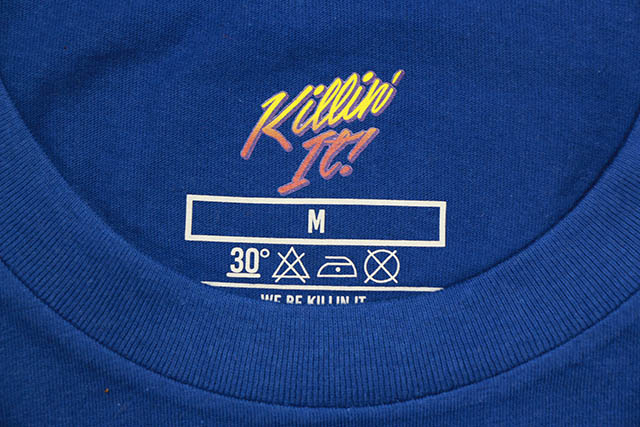 Mr. Throwback EWING SPIKE COURTSIDE T-SHIRT (BLUE)